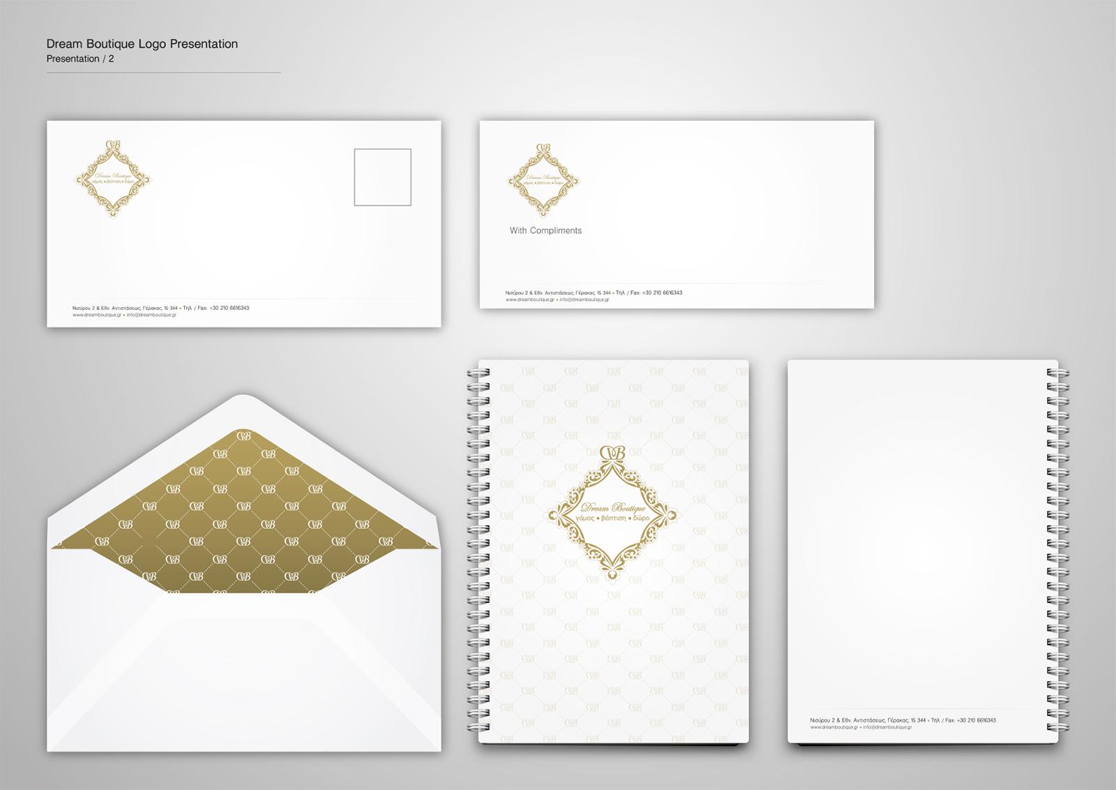 Corporate Identity Dream Boutique_Logo Presentation_2_Yianart