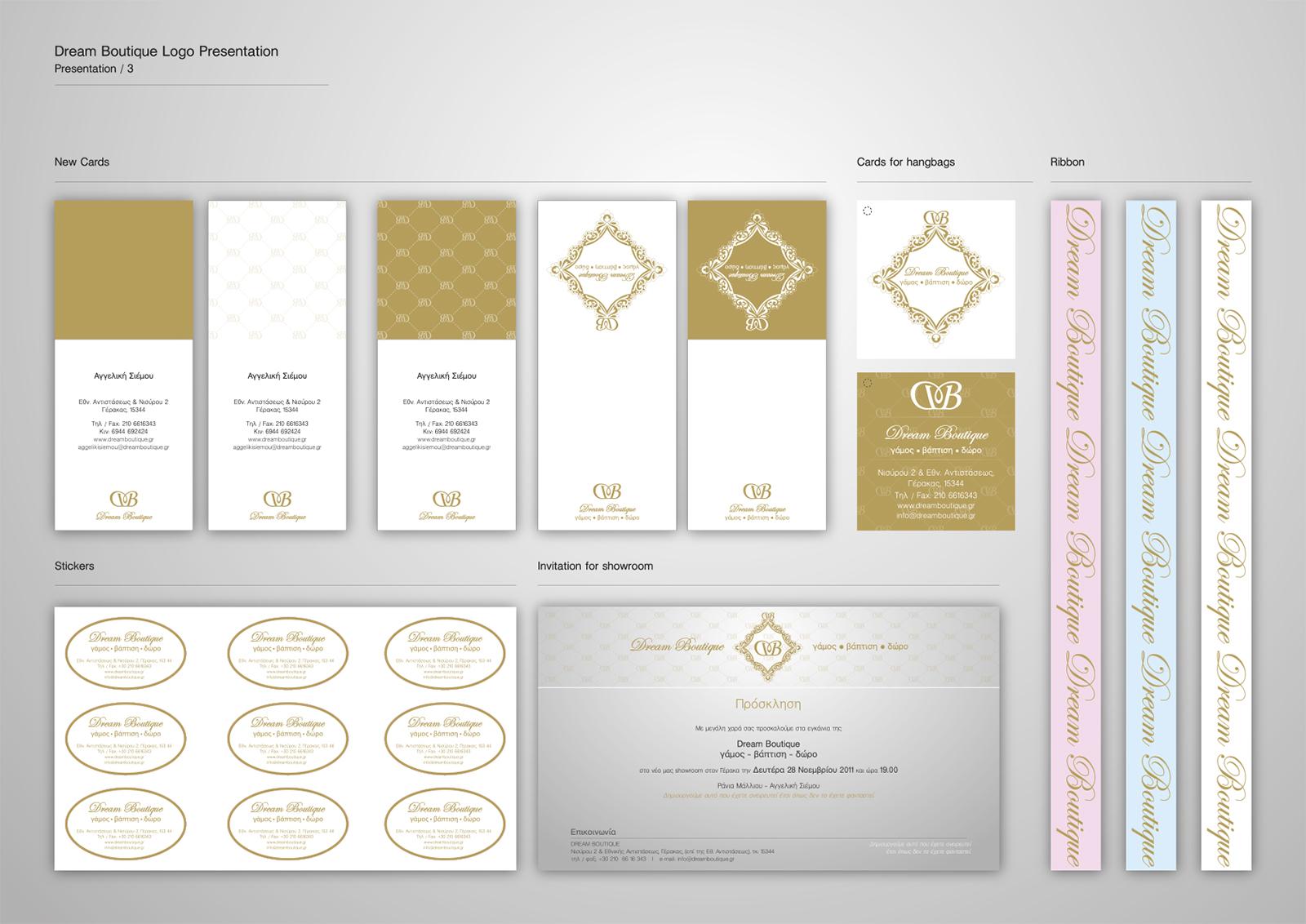 Corporate Identity Dream Boutique_Logo Presentation_3_Yianart