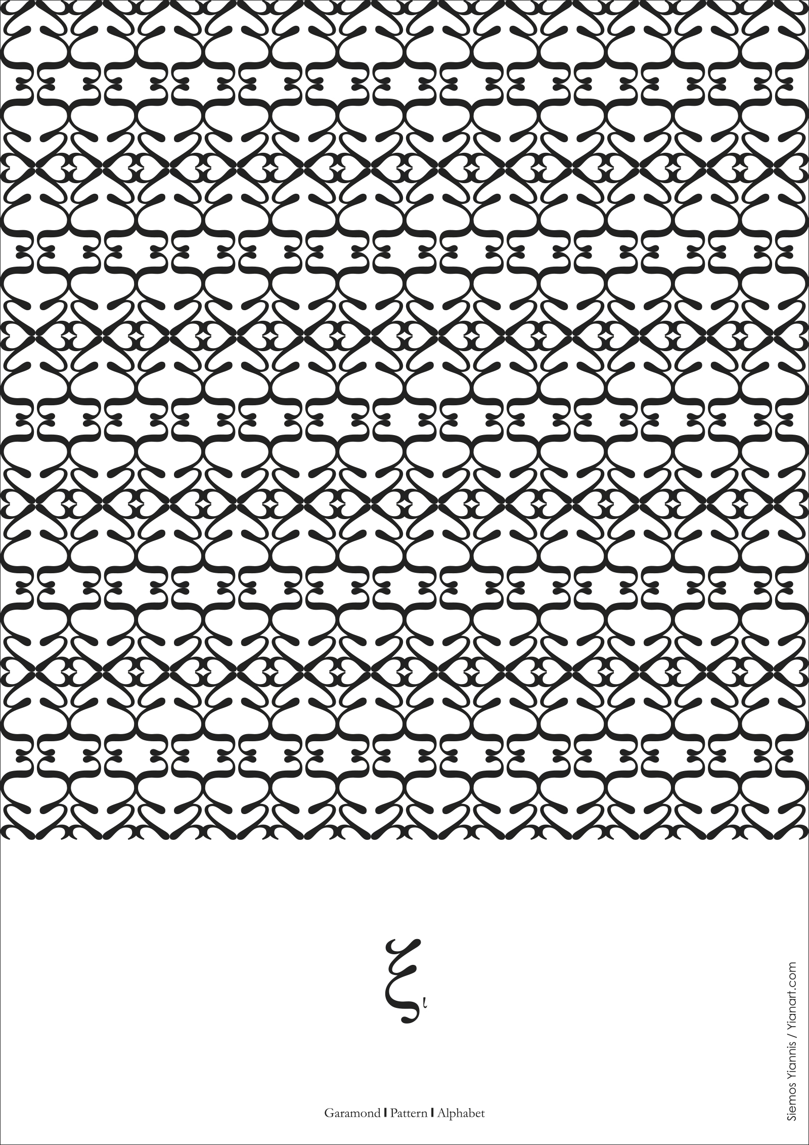 Greek Fonts Patterns_Xi2_Yianart