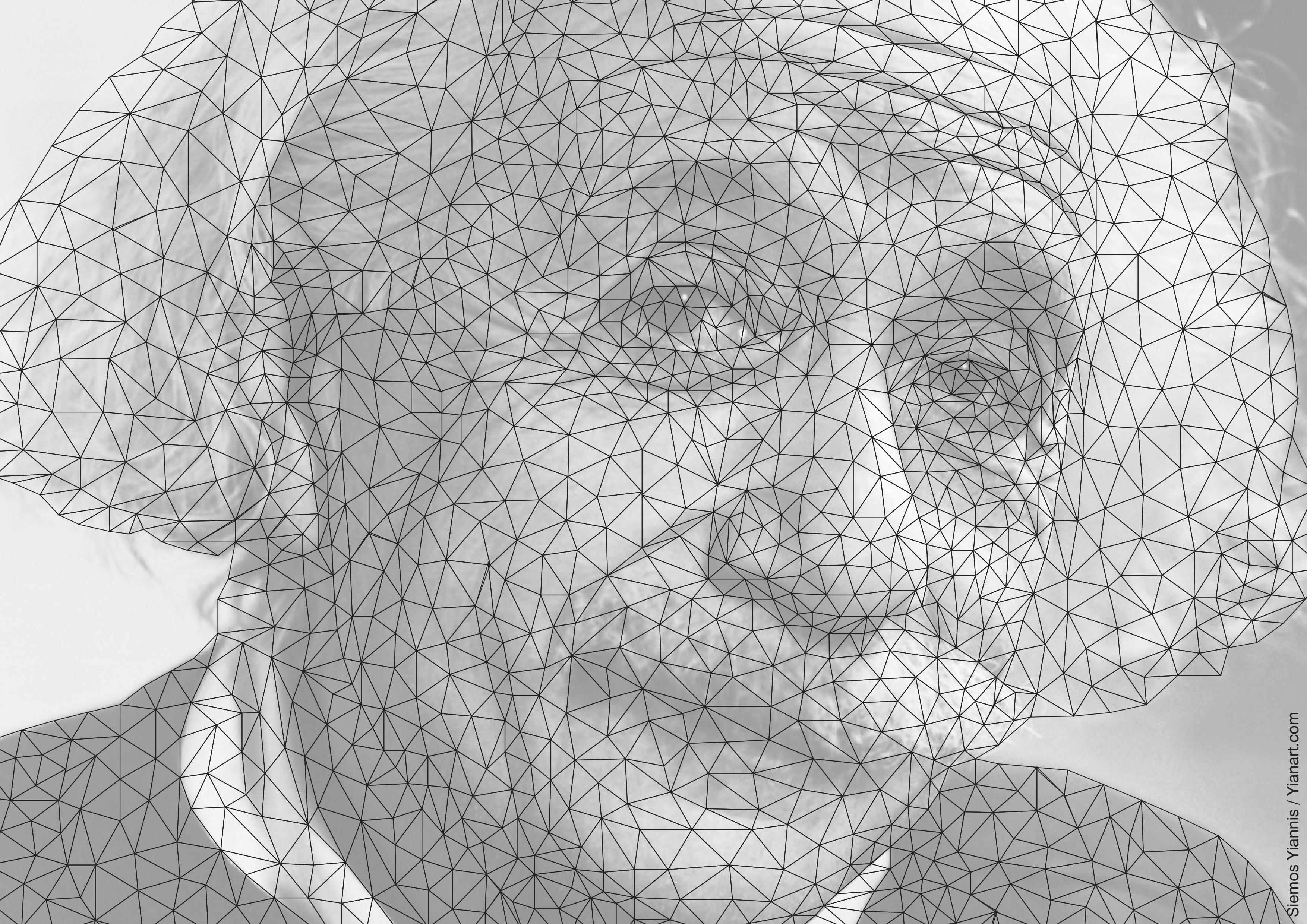 Albert Einstein_Closed_wired_Yianart.com