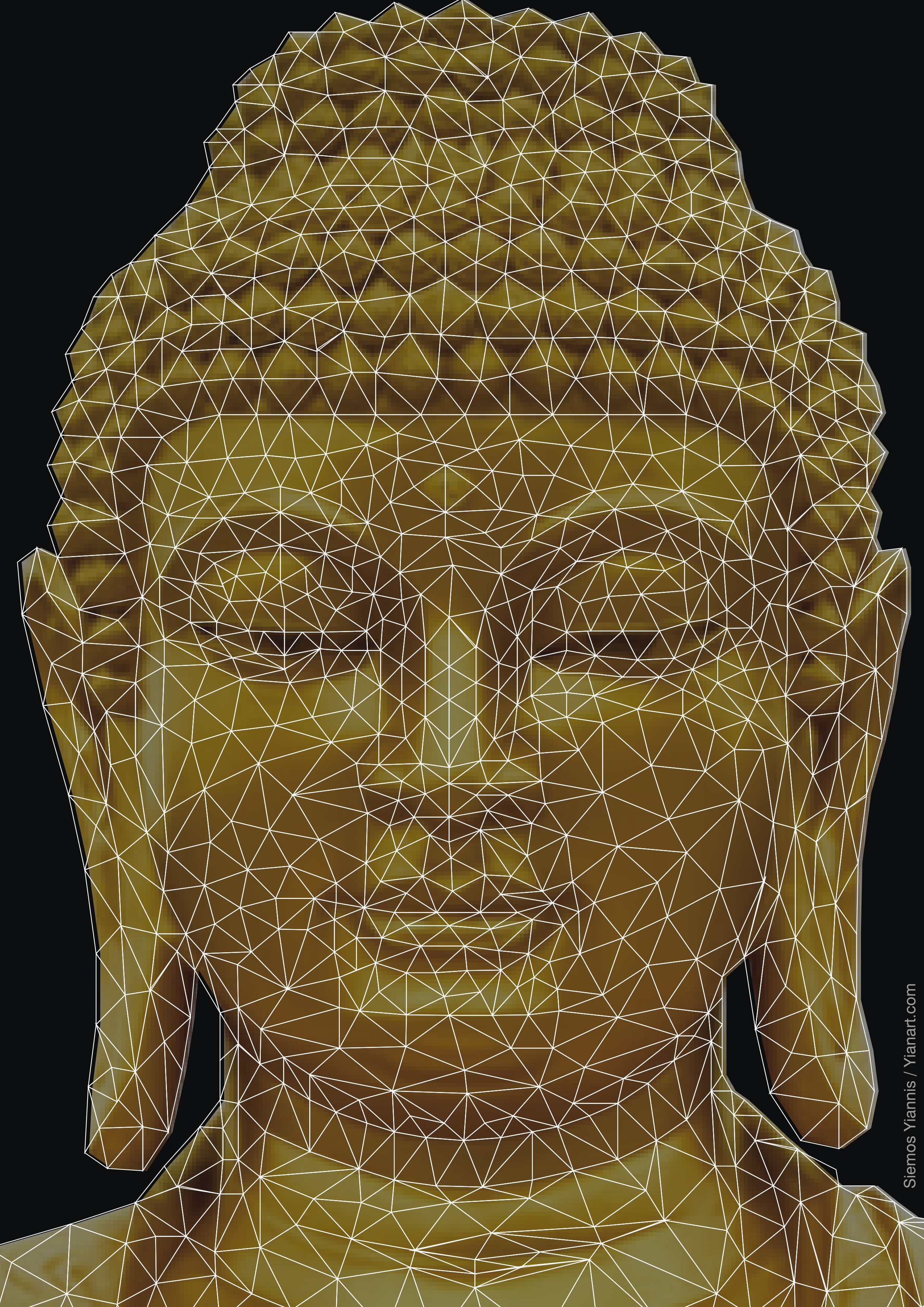 Buddha_Closed_wired_Yianart.com