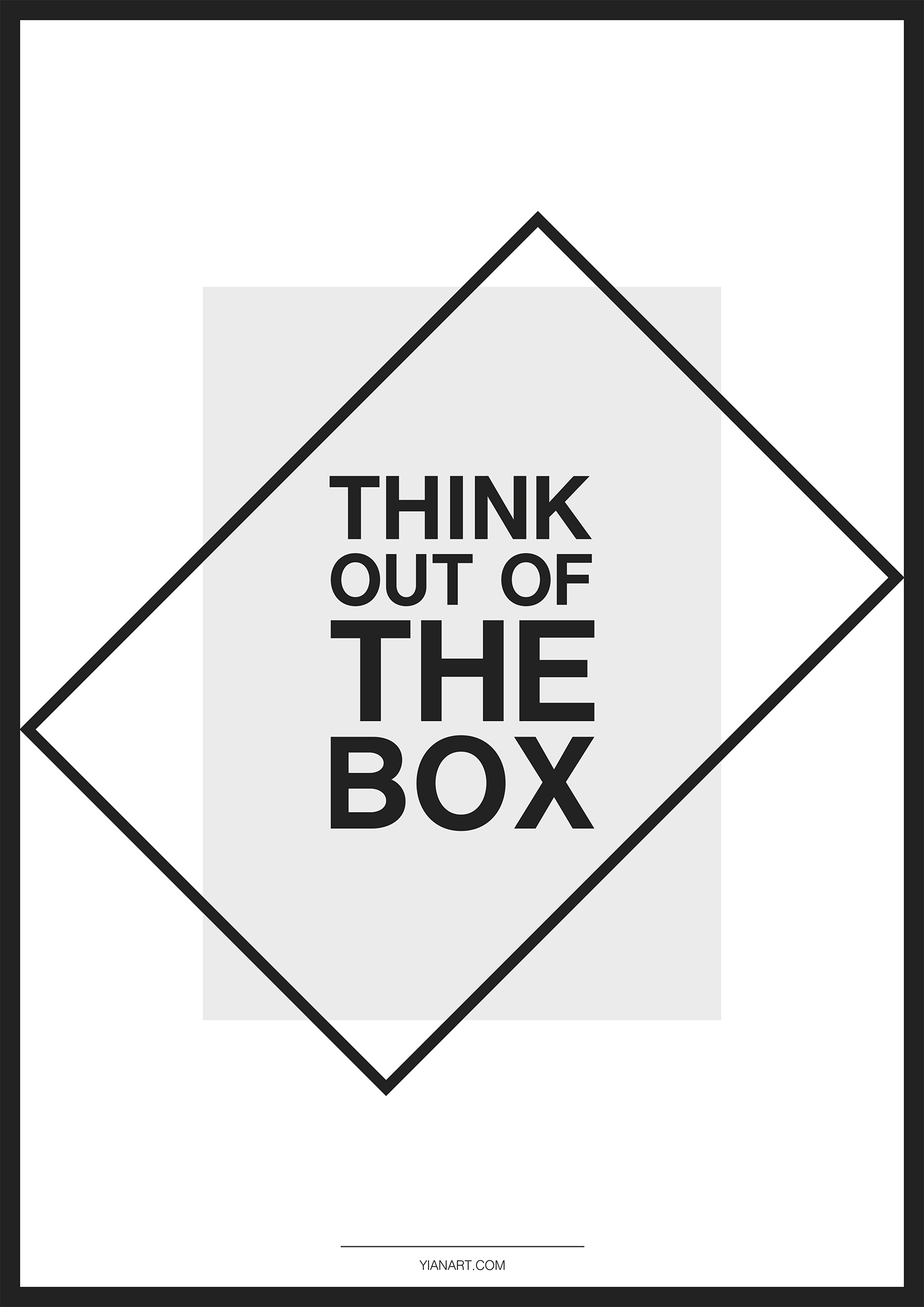 Graphic Design Posters_Think out of the box