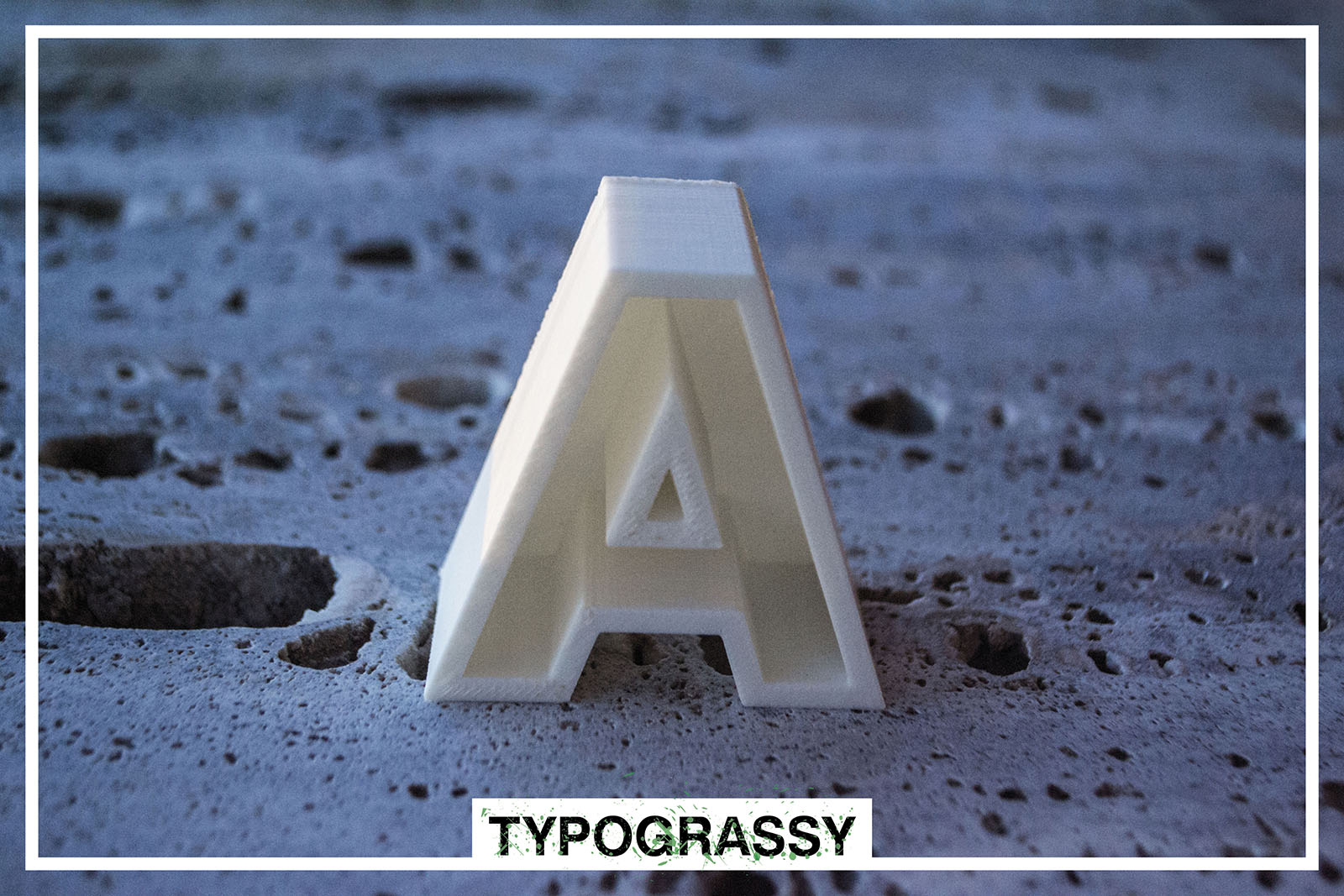 3D Printed letter_Typograssy_3d product_yianart.com