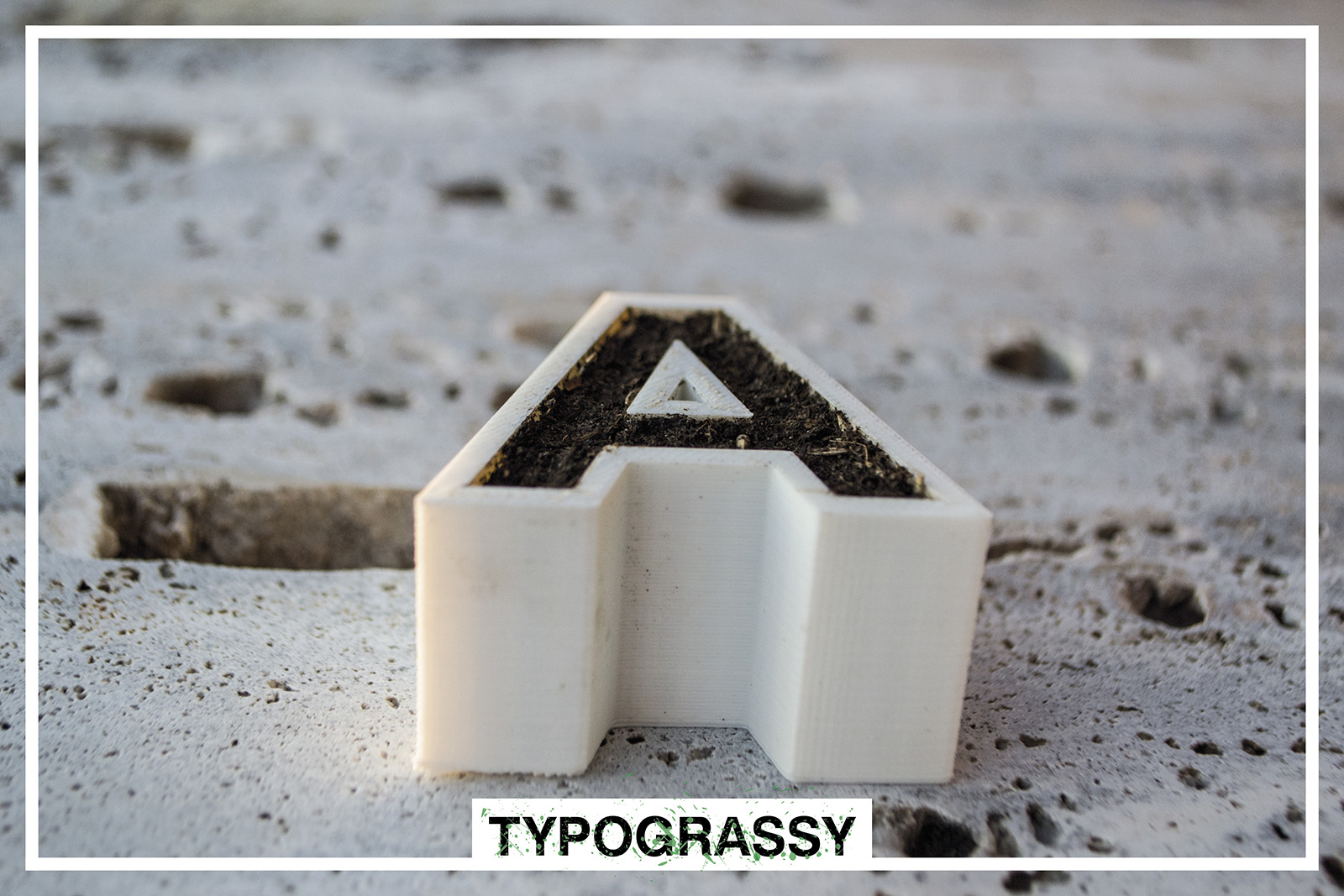 3D Printed letters and symbols with soil_2_Typograssy_3d product_yianart.com